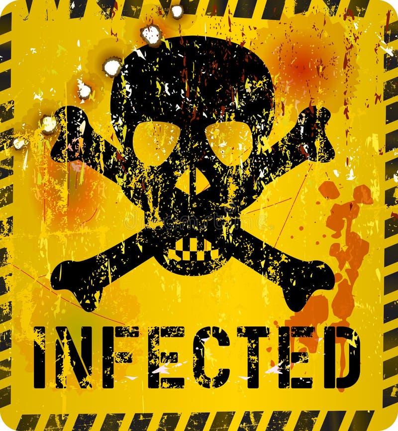 Επιφυλακή ιών υπολογιστών διανυσματική απεικόνιση