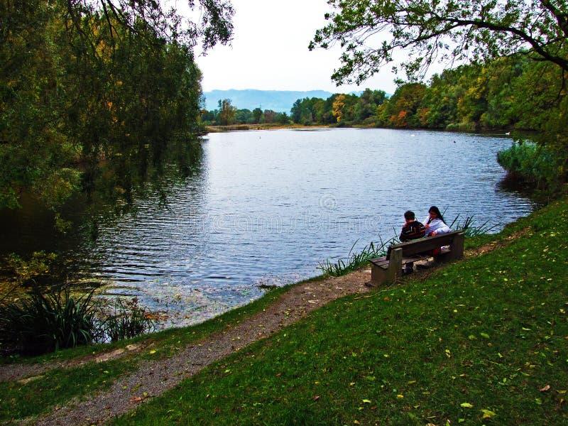 Επιφύλαξη φύσης Wichenstein ή Naturschutzgebiet Wichenstein ή Wichenstein Weiher, Oberriet στοκ φωτογραφία με δικαίωμα ελεύθερης χρήσης