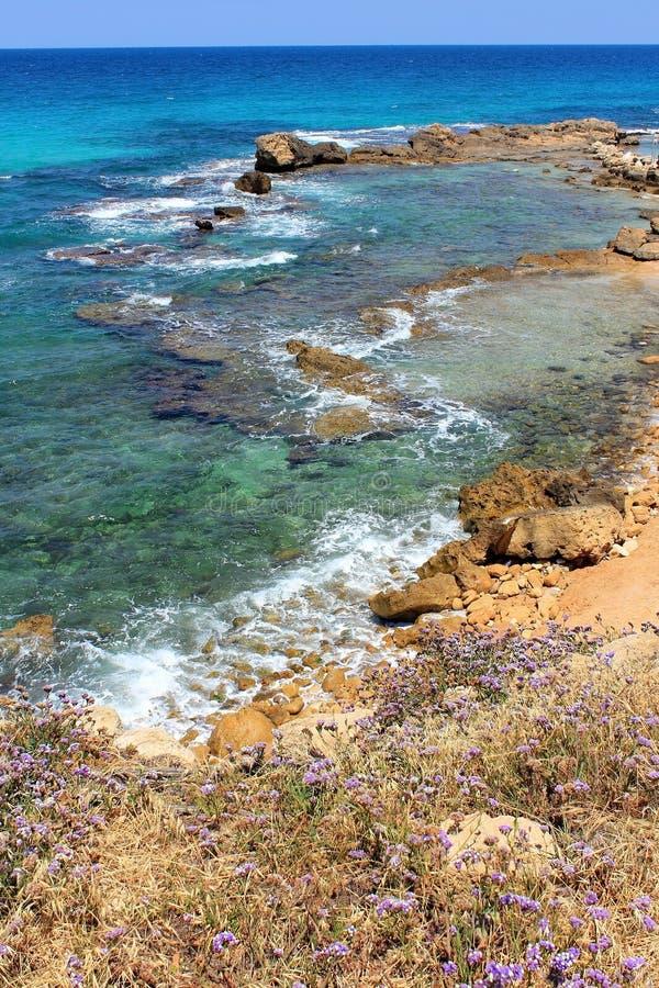 Επιφύλαξη φύσης Achziv στο δυτικό Galilee, Ισραήλ στοκ εικόνες