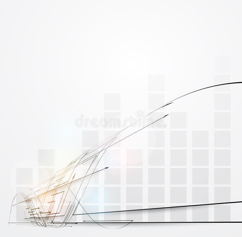 Επιχείρηση έννοιας τεχνολογίας υπολογιστών diagrama απείρου backgroun απεικόνιση αποθεμάτων