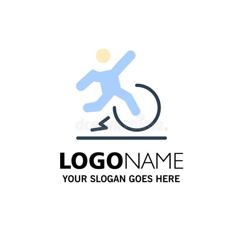 Επιχείρηση, αλλαγή, άνεση, διαφυγή, πρότυπο επιχειρησιακών λογότυπων άδειας Επίπεδο χρώμα ελεύθερη απεικόνιση δικαιώματος
