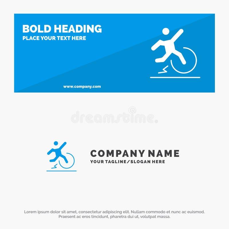 Επιχείρηση, αλλαγή, άνεση, διαφυγή, στερεά έμβλημα ιστοχώρου εικονιδίων άδειας και πρότυπο επιχειρησιακών λογότυπων απεικόνιση αποθεμάτων