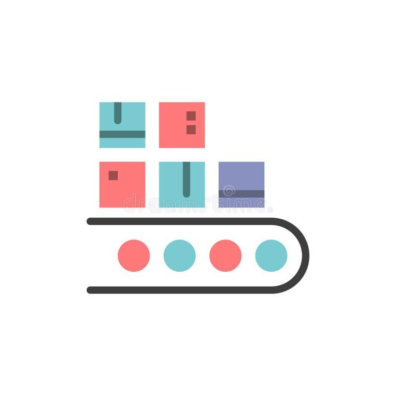 Επιχείρηση, γραμμή, διαχείριση, προϊόν, επίπεδο εικονίδιο χρώματος παραγωγής Διανυσματικό πρότυπο εμβλημάτων εικονιδίων απεικόνιση αποθεμάτων