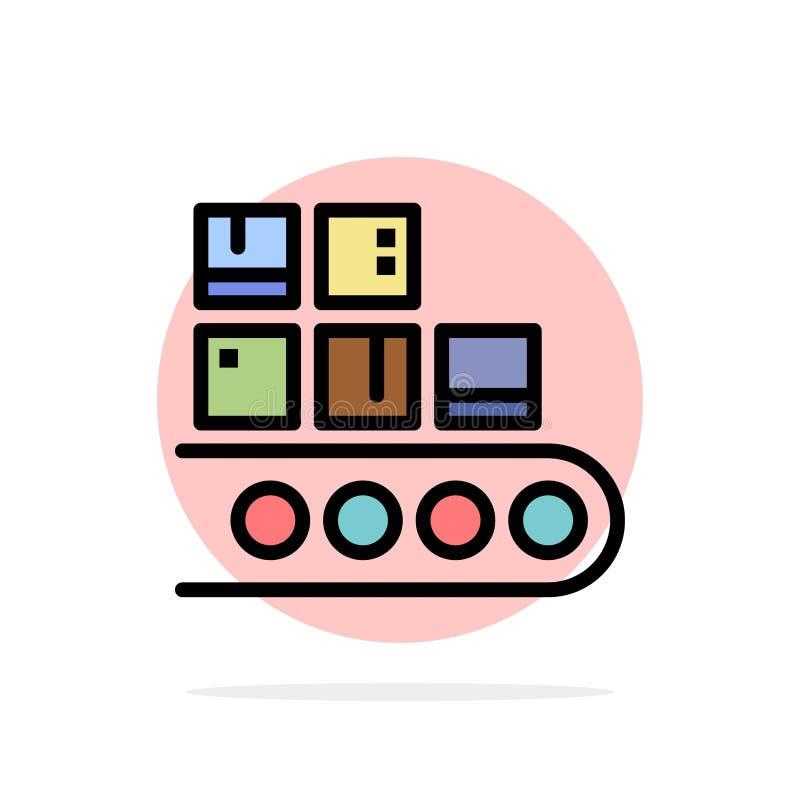 Επιχείρηση, γραμμή, διαχείριση, προϊόν, παραγωγής αφηρημένο κύκλων εικονίδιο χρώματος υποβάθρου επίπεδο απεικόνιση αποθεμάτων