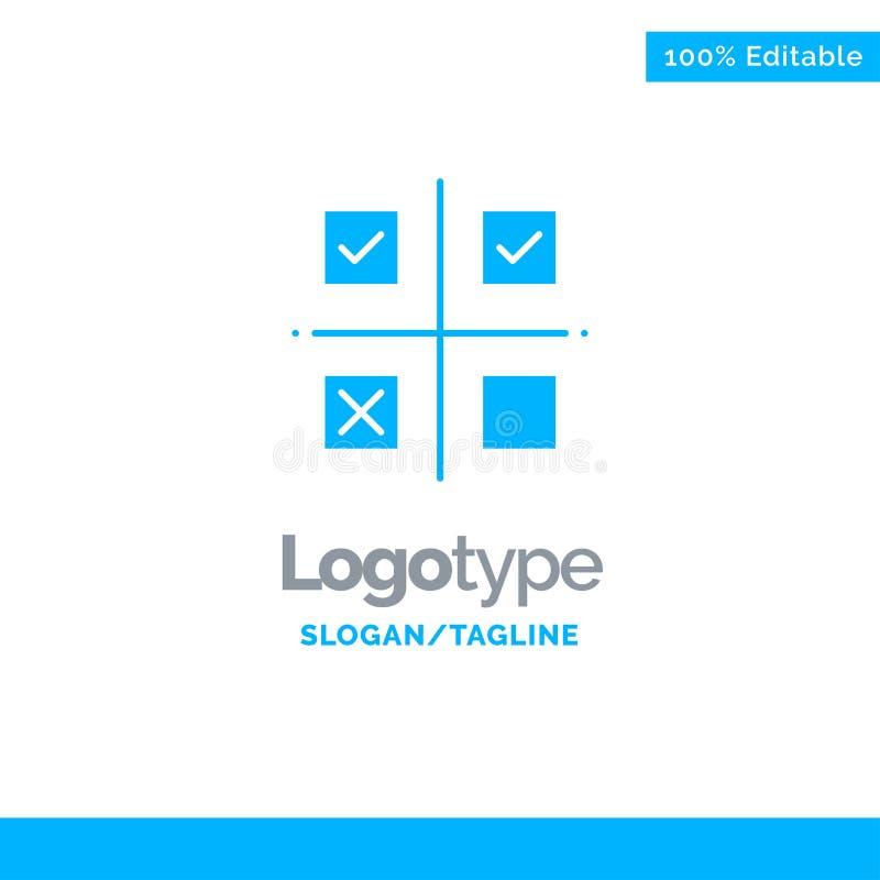 Επιχείρηση, διαχείριση, προτεραιότητες, προϊόν, μπλε στερεό πρότυπο λογότυπων παραγωγής r απεικόνιση αποθεμάτων