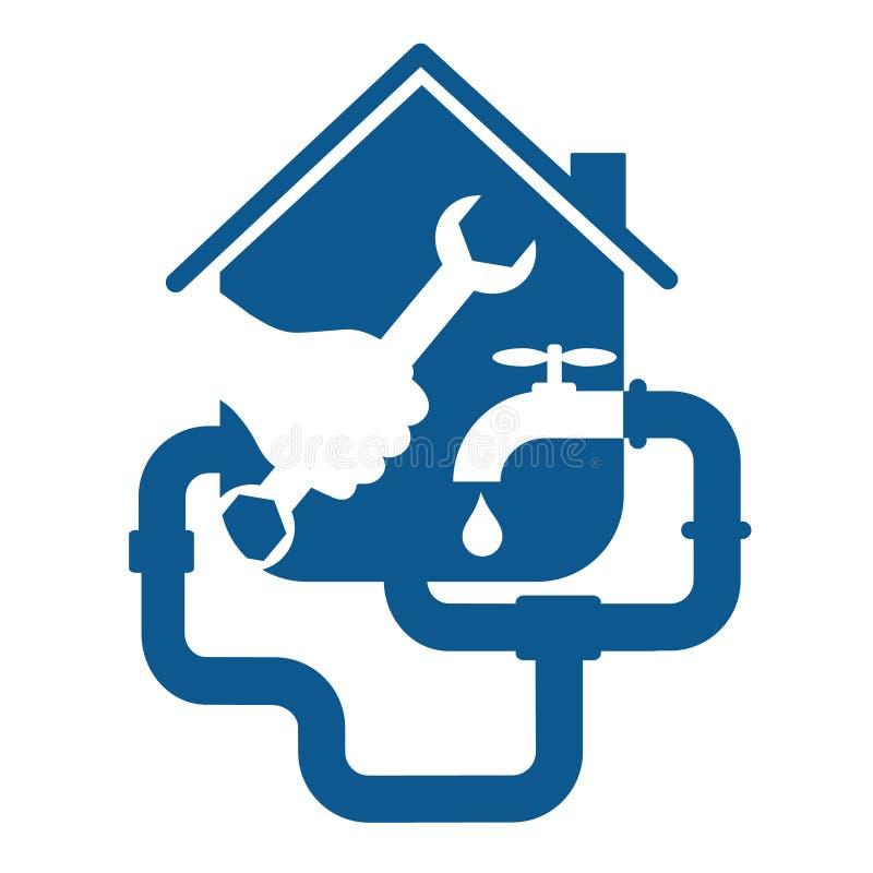 Επιχείρηση επισκευής υδραυλικών ελεύθερη απεικόνιση δικαιώματος