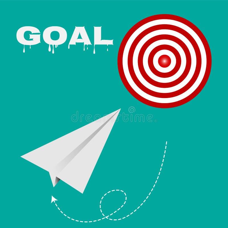 Επιχείρηση επιτυχίας διαδρομών στόχων, στόχοι διανυσματικό EPS 10 έννοιας στρατηγικής ελεύθερη απεικόνιση δικαιώματος