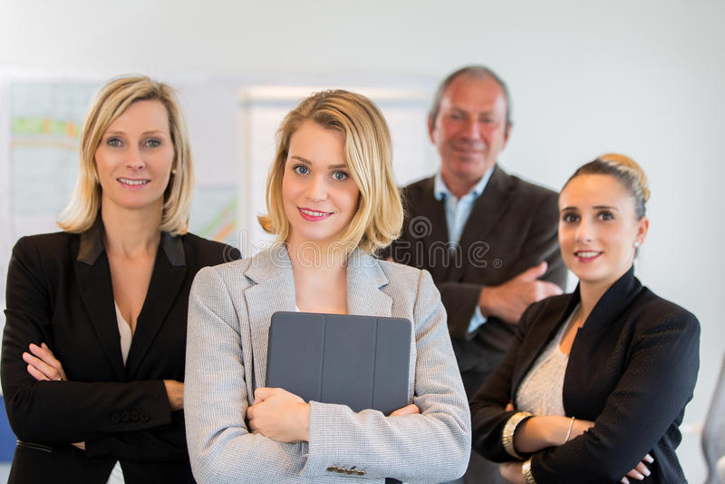 επιχείρηση η γυναίκα ομάδων της στοκ φωτογραφία με δικαίωμα ελεύθερης χρήσης