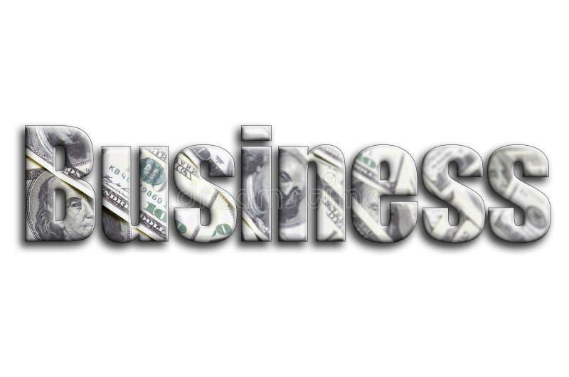 Επιχείρηση Η επιγραφή έχει μια σύσταση της φωτογραφίας, η οποία απεικονίζει πολλούς λογαριασμούς αμερικανικών δολαρίων στοκ φωτογραφία με δικαίωμα ελεύθερης χρήσης
