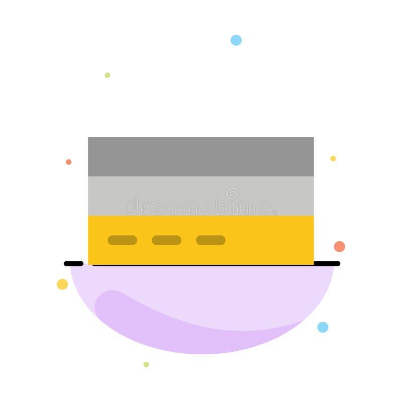 Επιχείρηση, κάρτα, πίστωση, χρηματοδότηση, διεπαφή, αφηρημένο επίπεδο πρότυπο εικονιδίων χρώματος χρηστών διανυσματική απεικόνιση