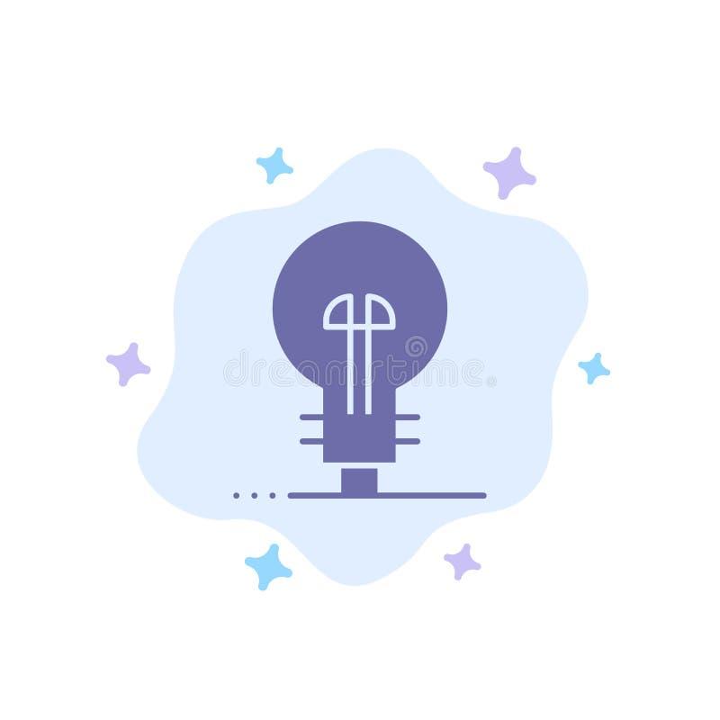 Επιχείρηση, καθορισμός, διαχείριση, μπλε εικονίδιο προϊόντων στο αφηρημένο υπόβαθρο σύννεφων διανυσματική απεικόνιση