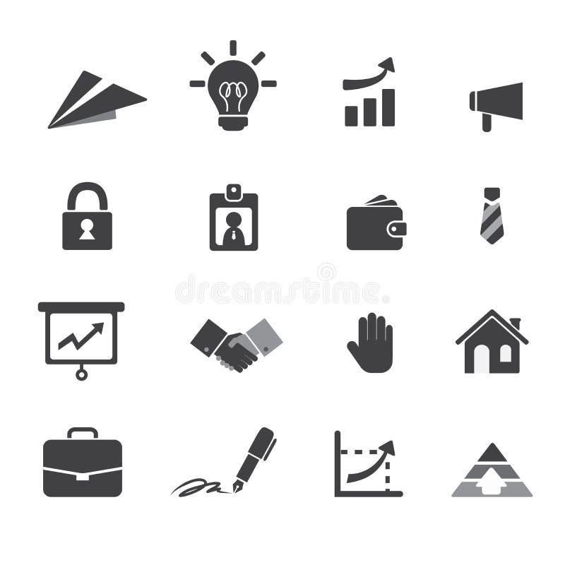 Επιχείρηση και εικονίδιο χρημάτων απεικόνιση αποθεμάτων
