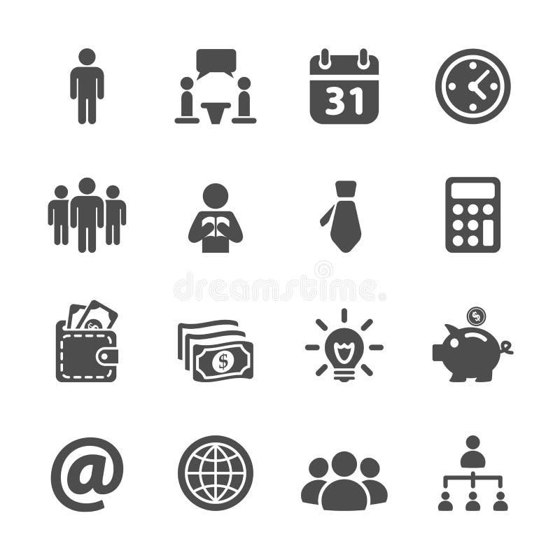 Επιχείρηση και εταιρικό σύνολο εικονιδίων, διανυσματικό eps10 διανυσματική απεικόνιση