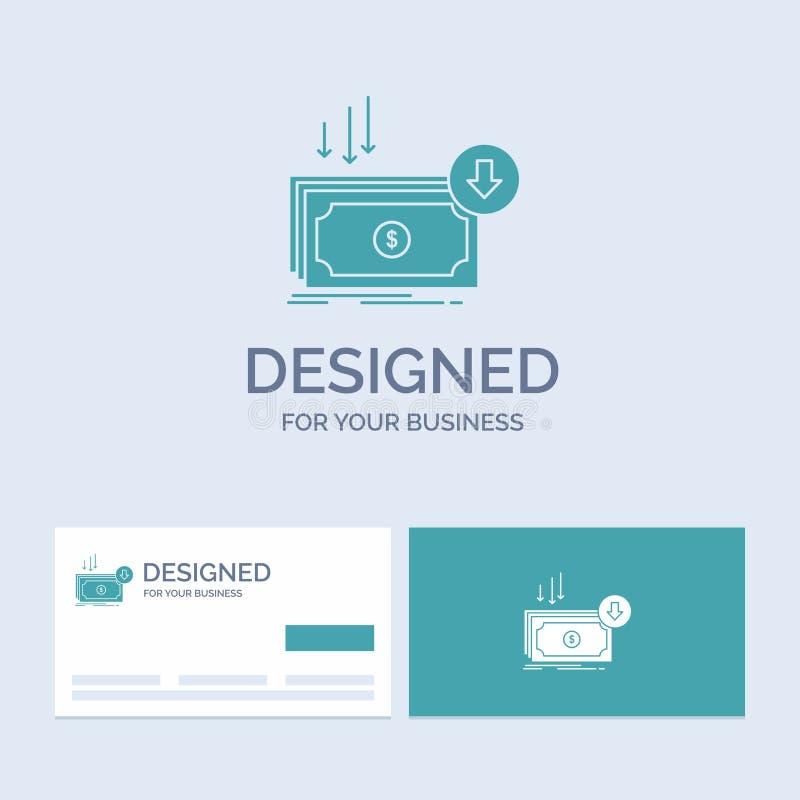 Επιχείρηση, κόστος, περικοπή, δαπάνη, χρηματοδότηση, σύμβολο εικονιδίων Glyph επιχειρησιακών λογότυπων χρημάτων για την επιχείρησ διανυσματική απεικόνιση