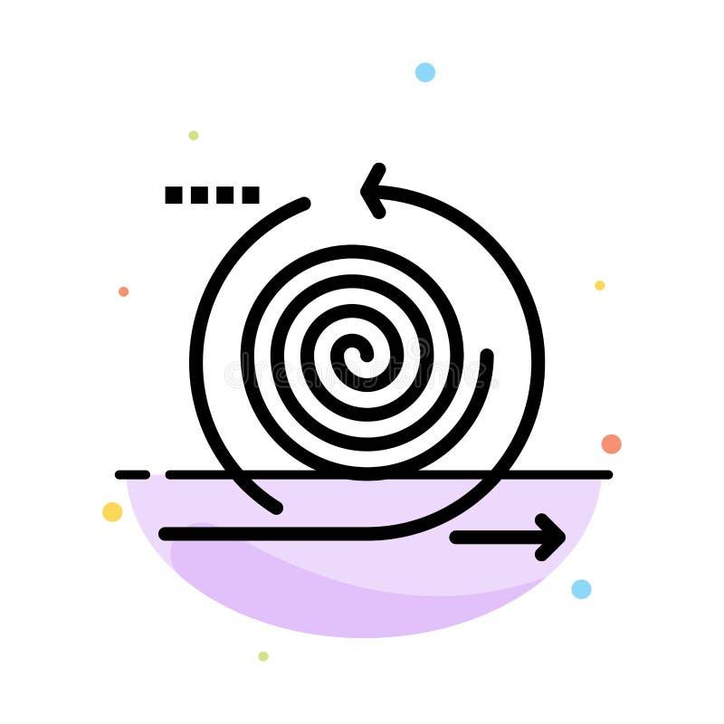 Επιχείρηση, κύκλοι, επανάληψη, διαχείριση, αφηρημένο επίπεδο πρότυπο εικονιδίων χρώματος προϊόντων ελεύθερη απεικόνιση δικαιώματος