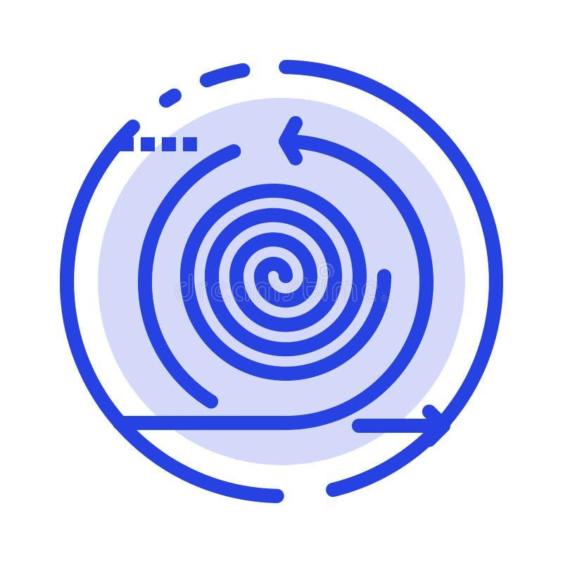 Επιχείρηση, κύκλοι, επανάληψη, διαχείριση, εικονίδιο γραμμής με κουκκίδες προϊόντος ελεύθερη απεικόνιση δικαιώματος