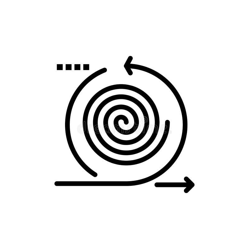 Επιχείρηση, κύκλοι, επανάληψη, διαχείριση, επίπεδο εικονίδιο χρώματος προϊόντων Διανυσματικό πρότυπο εμβλημάτων εικονιδίων απεικόνιση αποθεμάτων