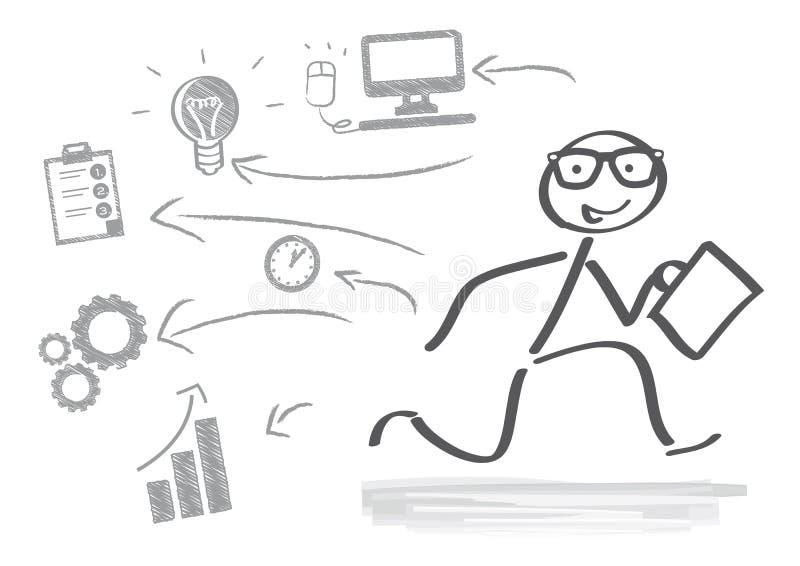 Επιχείρηση, ξεκίνημα διανυσματική απεικόνιση