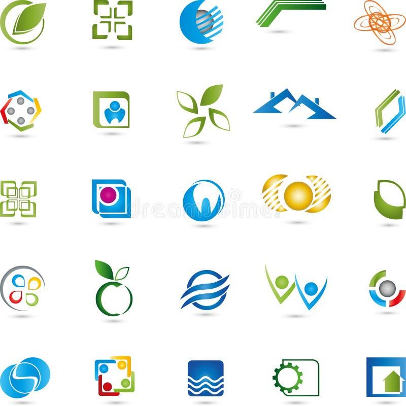 Επιχείρηση, λογότυπα, συλλογή, υπηρεσίες απεικόνιση αποθεμάτων
