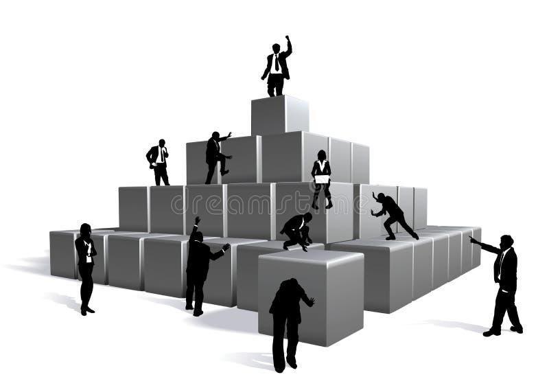 επιχείρηση ομάδων δεδομέ&nu διανυσματική απεικόνιση
