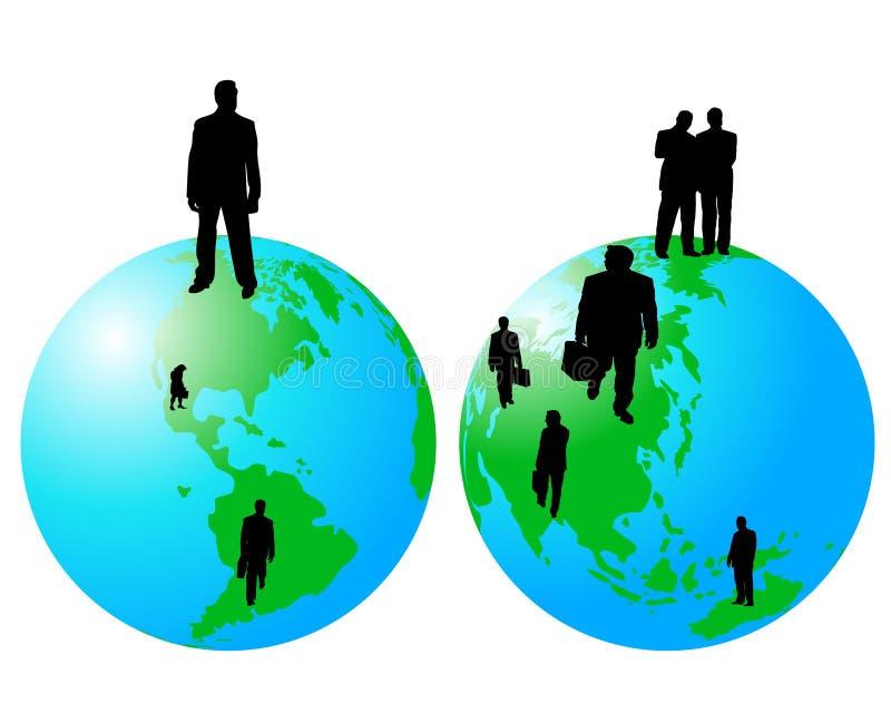 επιχείρηση παγκοσμίως διανυσματική απεικόνιση