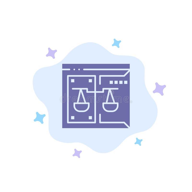 Επιχείρηση, πνευματικά δικαιώματα, δικαστήριο, ψηφιακός, μπλε εικονίδιο νόμου στο αφηρημένο υπόβαθρο σύννεφων ελεύθερη απεικόνιση δικαιώματος