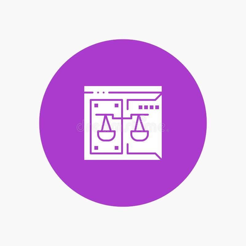 Επιχείρηση, πνευματικά δικαιώματα, δικαστήριο, ψηφιακό, νόμος διανυσματική απεικόνιση