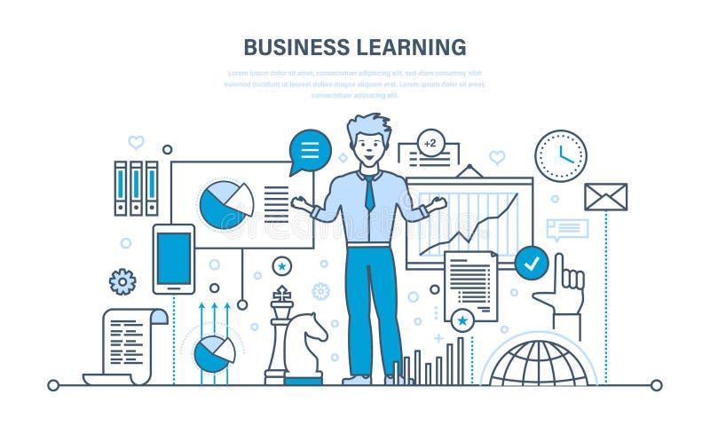 Επιχείρηση που μαθαίνει, σε απευθείας σύνδεση εκπαίδευση, κατάρτιση, από απόσταση εκμάθηση, γνώση, διδασκαλία, εργασία ελεύθερη απεικόνιση δικαιώματος