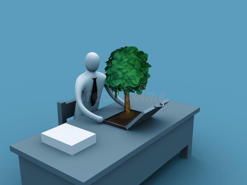 επιχείρηση πράσινη απεικόνιση αποθεμάτων