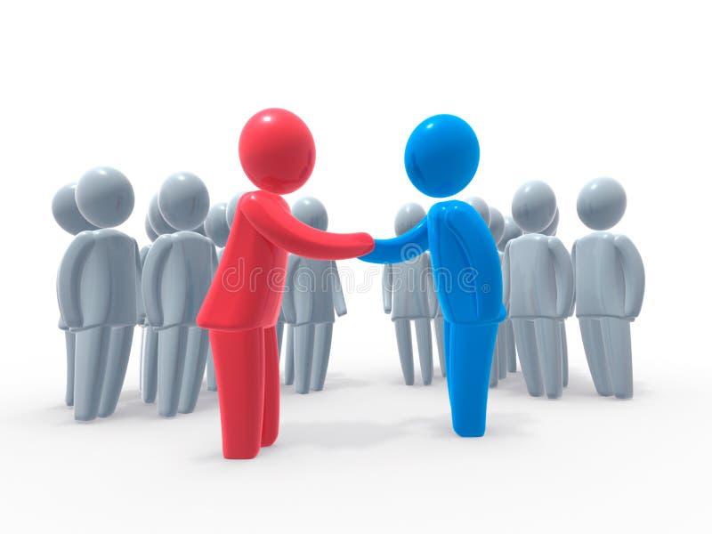 επιχείρηση συμφωνίας απεικόνιση αποθεμάτων