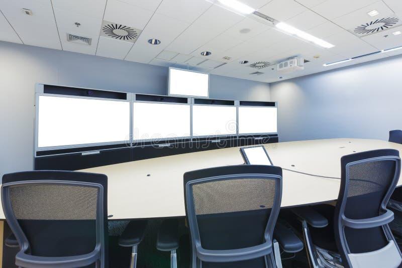 Επιχείρηση συστήματος τηλεσυνεδριάσεων, τηλεδιάσκεψης και τηλεπαρουσίασης mee στοκ εικόνες