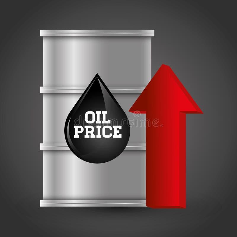 Επιχείρηση τιμών πετρελαίου και του πετρελαίου διανυσματική απεικόνιση