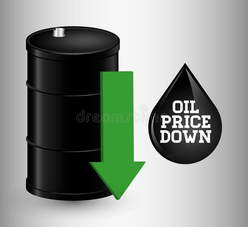 Επιχείρηση τιμών πετρελαίου και του πετρελαίου ελεύθερη απεικόνιση δικαιώματος