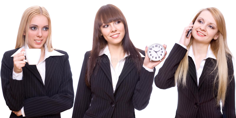 επιχείρηση τρία γυναίκες στοκ εικόνα