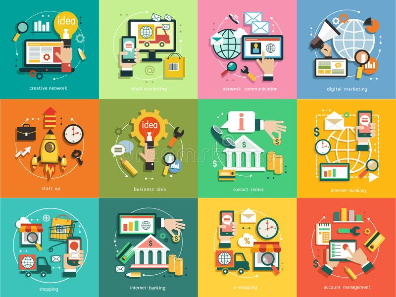 Επιχείρηση υποβάθρου Infographics απεικόνιση αποθεμάτων