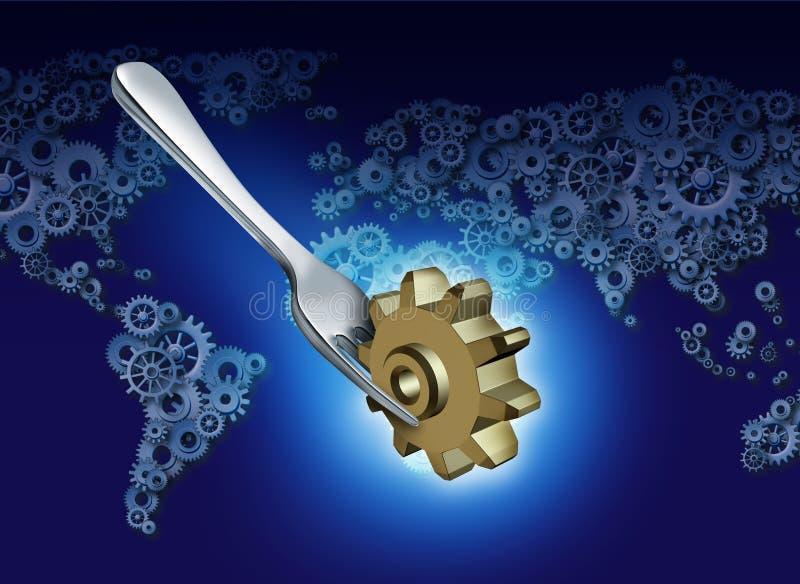 Επιχείρηση δυτικών εξαγωγών διανυσματική απεικόνιση