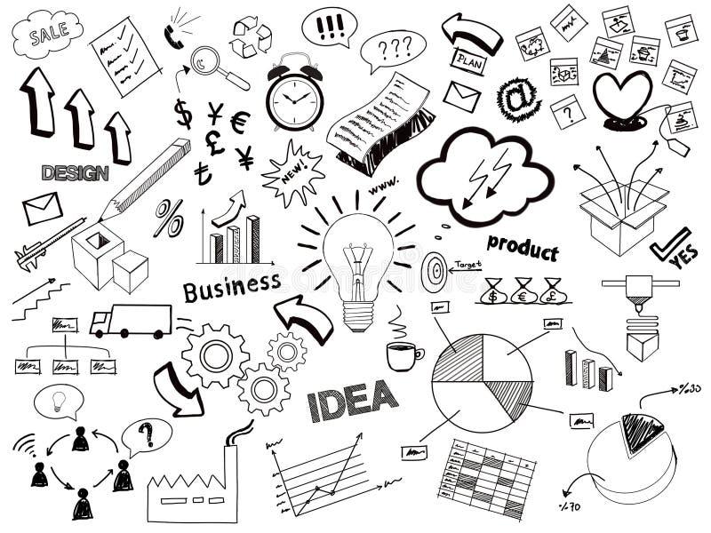 Επιχείρηση doodle, επιχειρησιακό σκίτσο διανυσματική απεικόνιση