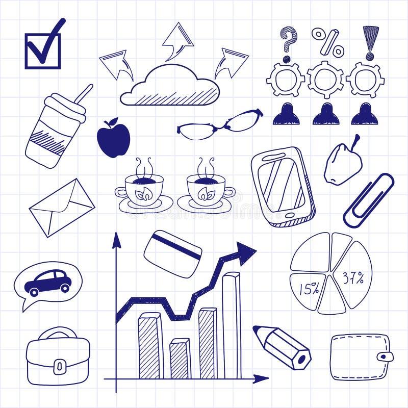 Επιχείρηση doodles άνευ ραφής ελεύθερη απεικόνιση δικαιώματος