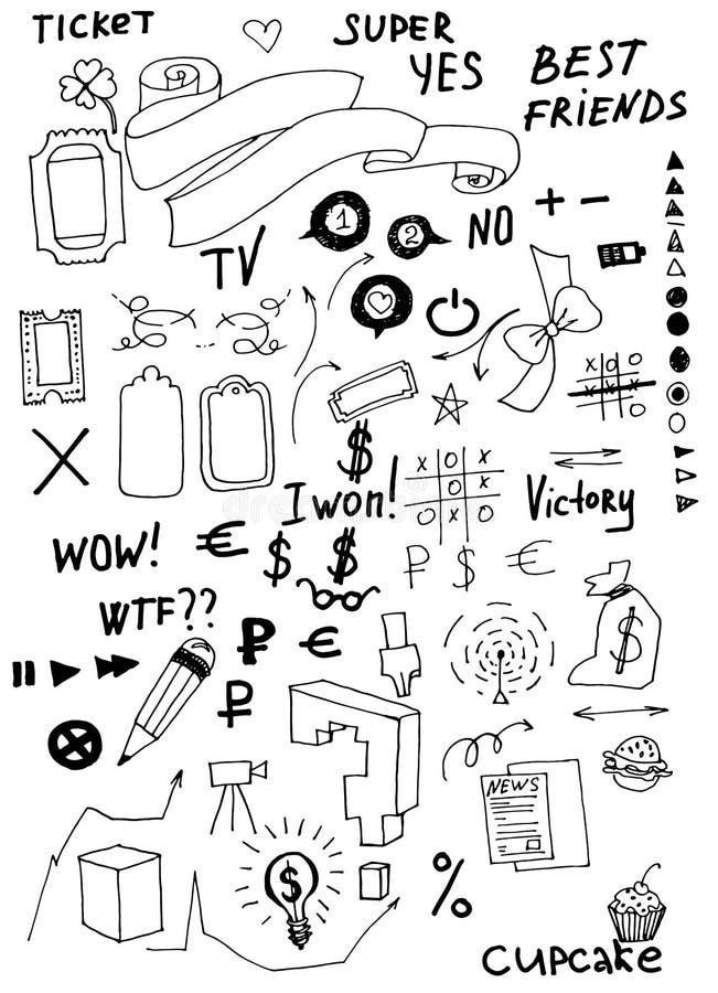Επιχείρηση doodles ελεύθερη απεικόνιση δικαιώματος