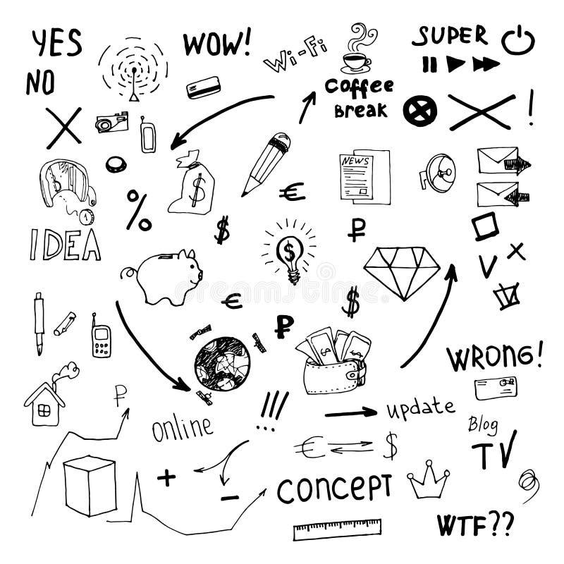 Επιχείρηση doodles απεικόνιση αποθεμάτων