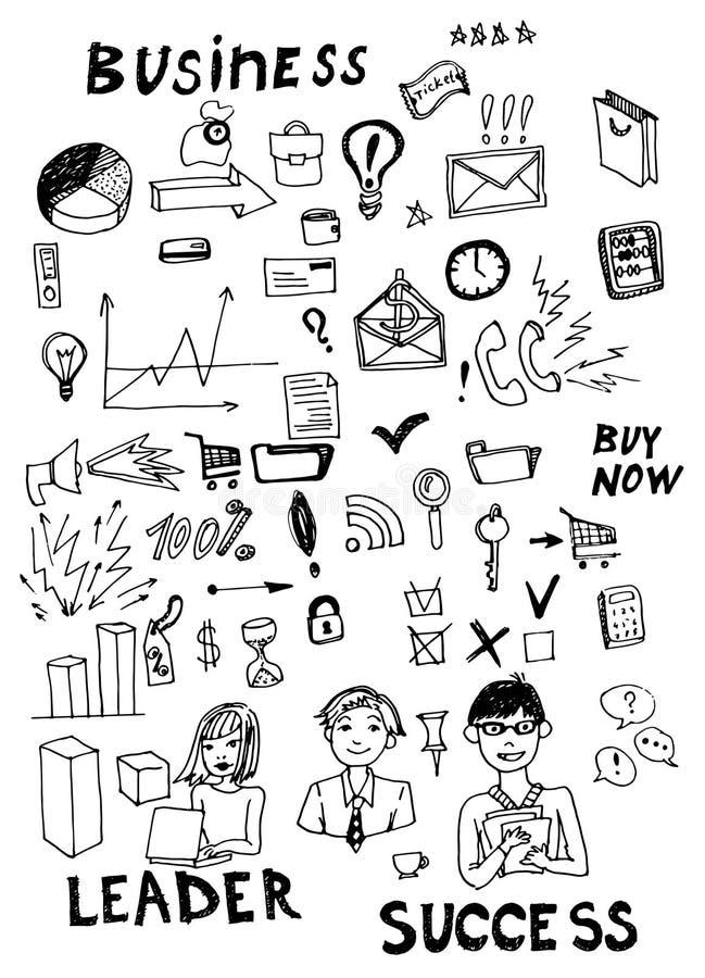 Επιχείρηση doodles διανυσματική απεικόνιση