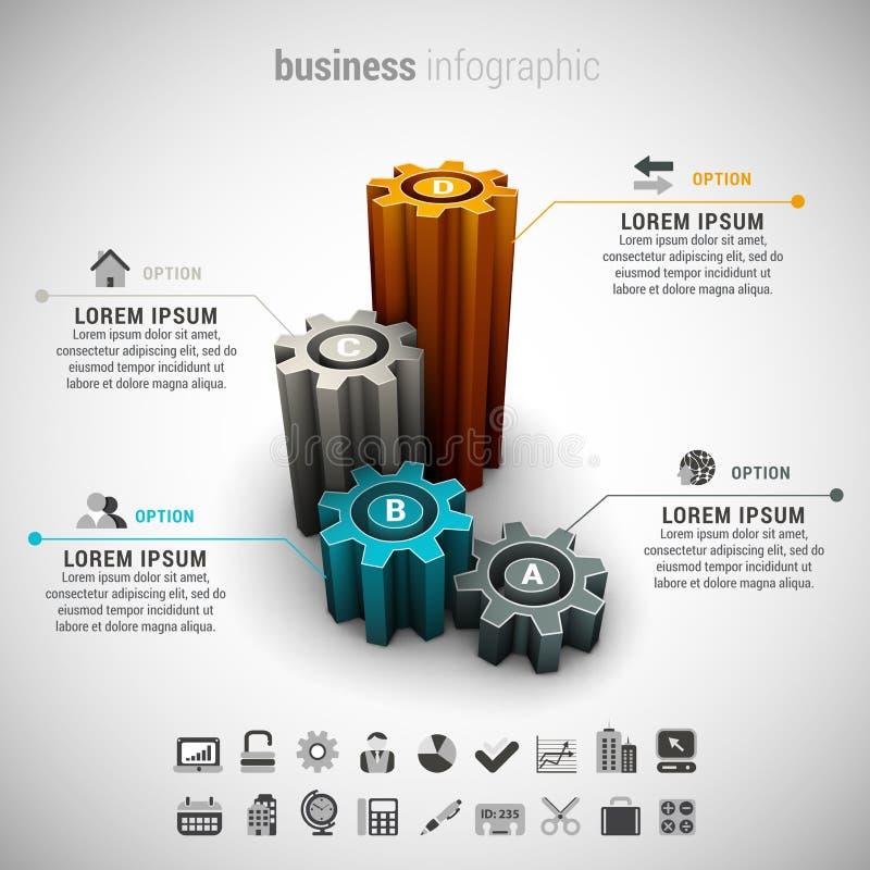 Επιχείρηση Infographic ελεύθερη απεικόνιση δικαιώματος