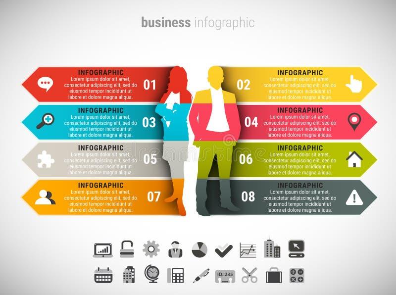 Επιχείρηση Infographic απεικόνιση αποθεμάτων