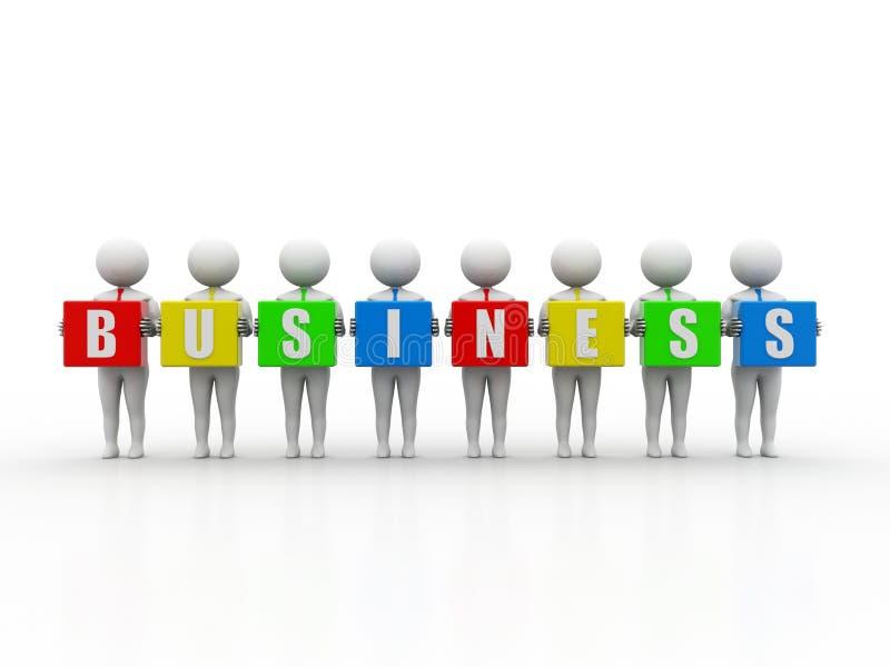 Επιχείρηση Word εκμετάλλευσης επιχειρηματιών στο άσπρο υπόβαθρο τρισδιάστατος δώστε απεικόνιση αποθεμάτων