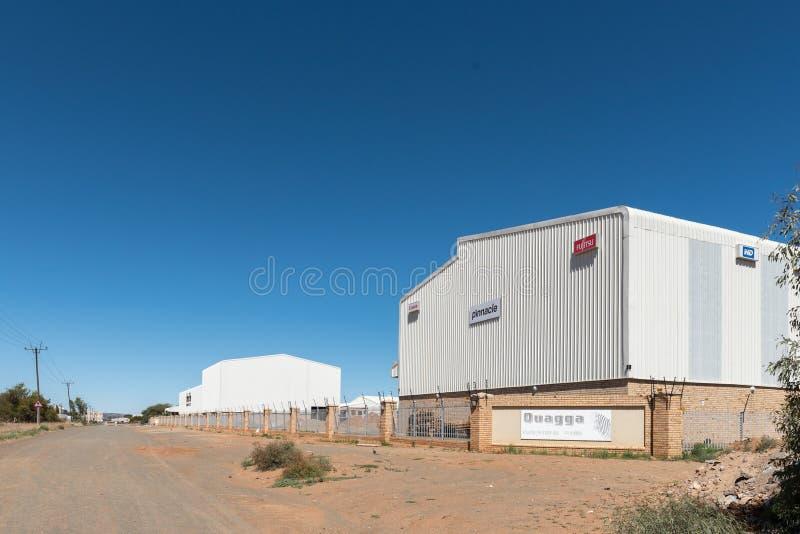 Επιχειρήσεις στο βιομηχανικό πάρκο Quagga σε Kwaggafontein σε Blo στοκ εικόνες