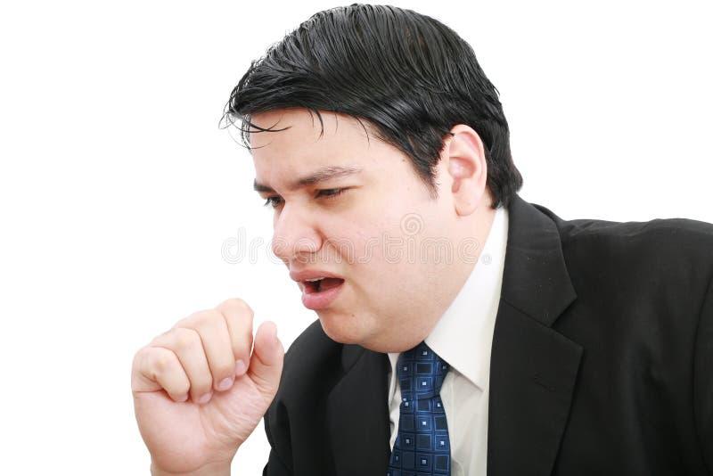 επιχειρηματίας άρρωστος στοκ φωτογραφία