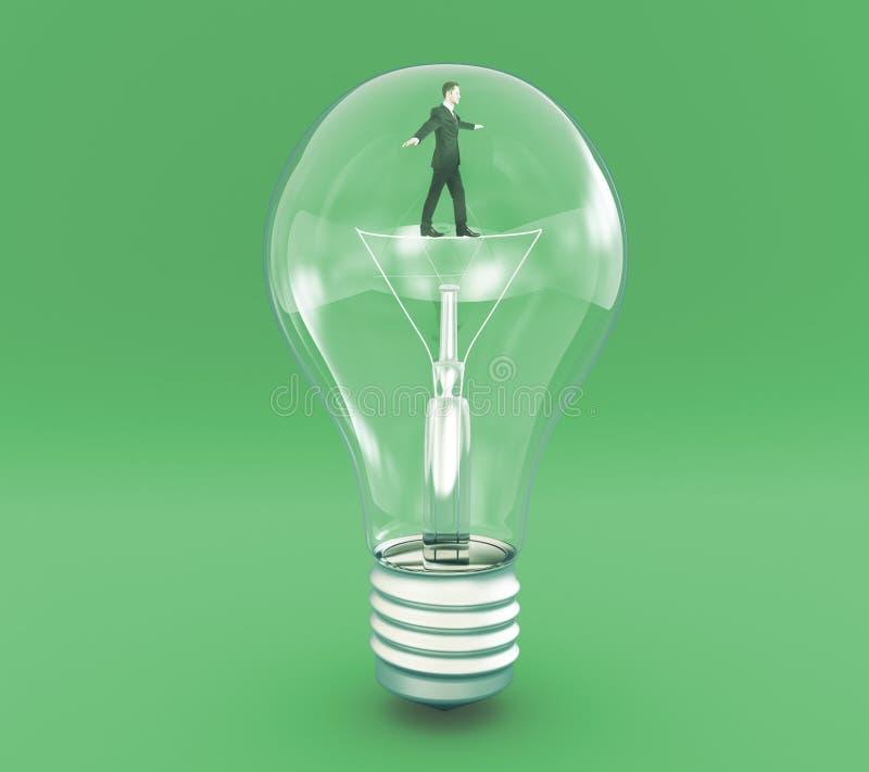 Επιχειρηματίας έννοιας ιδέας στην ίνα διανυσματική απεικόνιση