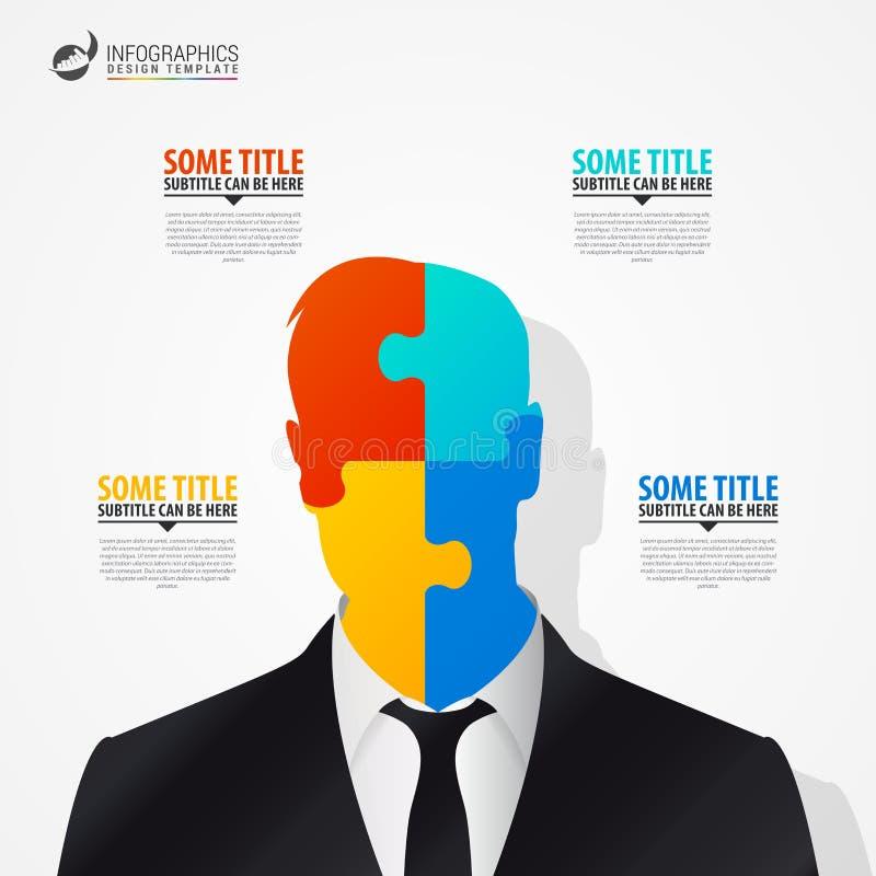Επιχειρηματίας Έννοια Infographics σύγχρονο πρότυπο σχεδίο&upsil απεικόνιση αποθεμάτων