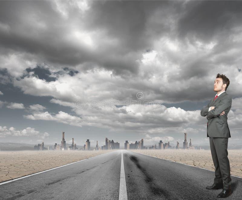 επιχειρηματίας αισιόδοξος στοκ φωτογραφίες