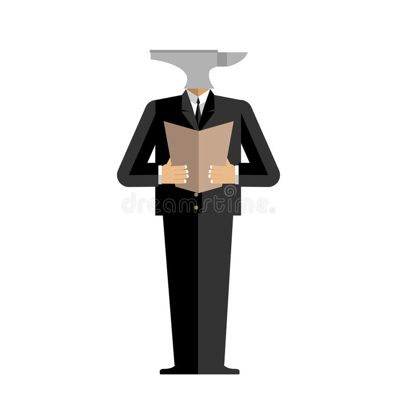 Επιχειρηματίας αμονιών ατόμων σκληρός προϊστάμενος διευθυντής incus Εργαλείο στον άνθρωπο ελεύθερη απεικόνιση δικαιώματος